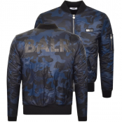 Product Image for BALR Camouflage Bomber Jacket Navy