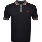 Fred Perry Contrast Trim Tipped Polo T Shirt Black