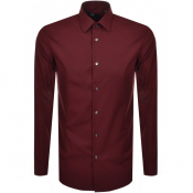 BOSS HUGO BOSS Slim Fit Isko Shirt Red