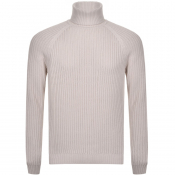 Product Image for BOSS HUGO BOSS Bovaro Roll Neck Knit Jumper Cream