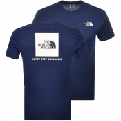 The North Face Red Box T Shirt Navy