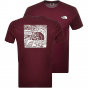 The North Face Red Box T Shirt Burgundy