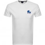 Product Image for Edwin The Wave Crew Neck Logo T Shirt White