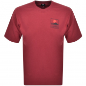 Product Image for Edwin Crew Neck Sunset On Mt Fuji T Shirt Red