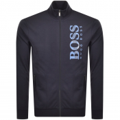 Product Image for BOSS HUGO BOSS Full Zip Logo Sweatshirt Navy