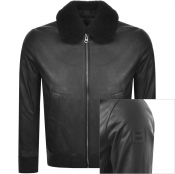 Product Image for BOSS Casual Jendar Leather Jacket Black