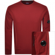 Product Image for CP Company Crew Neck Goggle Sweatshirt Red