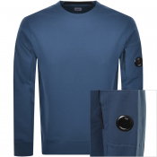 Product Image for CP Company Crew Neck Goggle Sweatshirt Blue