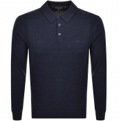 Product Image for Michael Kors Long Sleeved Polo Navy