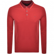 Product Image for Michael Kors long Sleeved Greenwick Polo Red