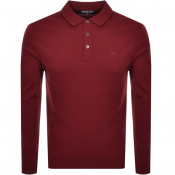 Product Image for Michael Kors Sleek Long Sleeve Polo T Shirt Red