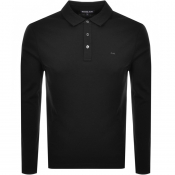 Michael Kors Sleek Long Sleeve Polo T Shirt Black