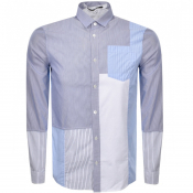 MCQ Alexander McQueen Long Sleeved Shirt Blue