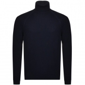 BOSS HUGO BOSS Bovaro Roll Neck Knit Jumper Navy