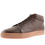 Sweeney London Novas Leather Trainers Brown