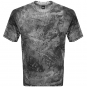BOSS Casual Taive T Shirt Grey