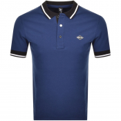 Replay Short Sleeved Logo Polo T Shirt Blue