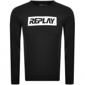 Replay Crew Neck Logo Sweatshirt Black