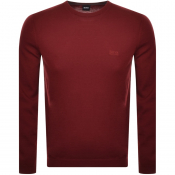 Product Image for BOSS Athleisure Raio Crew Neck Knit Jumper Red