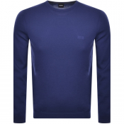 Product Image for BOSS Athleisure Raio Crew Neck Knit Jumper Blue