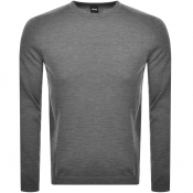 BOSS Athleisure Raio Crew Neck Knit Jumper Grey