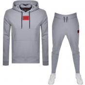 HUGO Hooded Tracksuit Grey