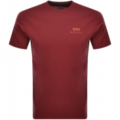 Product Image for Edwin Crew Neck Logo T Shirt Red
