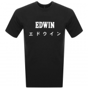 Product Image for Edwin Crew Neck Japan T Shirt Black