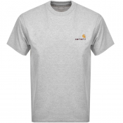 Product Image for Carhartt Script Short Sleeved T Shirt Grey