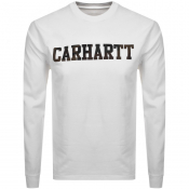 Carhartt Long Sleeved College T Shirt White