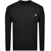 Product Image for Carhartt Script Long Sleeved T Shirt Black