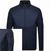 Product Image for BOSS Athleisure Sivon Full Zip Sweatshirt Navy