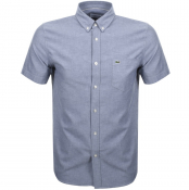 Product Image for Lacoste Short Sleeved Oxford Shirt Navy