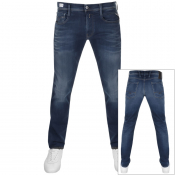 Replay Anbass Hyperflex Jeans Blue