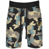 True Religion Camouflage Jersey Shorts Black