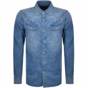 Product Image for G Star Raw Slim 3301 Shirt Blue