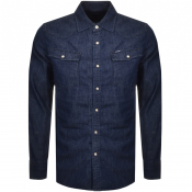 Product Image for G Star Raw Slim 3301 Shirt Navy