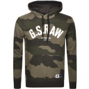 Product Image for G Star Raw Logo Core Hoodie Green