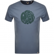 Pretty Green Gillespie Logo T Shirt Blue