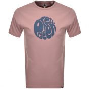 Pretty Green Gillespie Logo T Shirt Pink