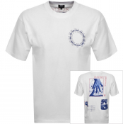 Product Image for Edwin Crew Neck Altered Famtasy Logo T Shirt White