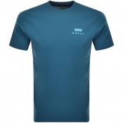 Product Image for Edwin Crew Neck Logo T Shirt Blue
