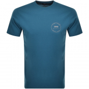 Product Image for Edwin Crew Neck Trademark Logo T Shirt Blue