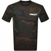 Product Image for Carhartt College Script Logo Camo T Shirt Khaki