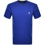 Carhartt Chase Short Sleeved T Shirt Blue