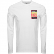 Product Image for adidas Originals Long Sleeve Logo T Shirt White