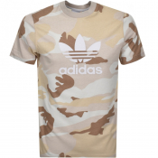 adidas Originals Trefoil T Shirt Brown