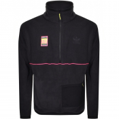 adidas Originals Half Zip Polar Fleece Top Black