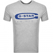 Product Image for G Star Raw Logo T Shirt Grey