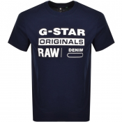 Product Image for G Star Raw Logo T Shirt Navy
